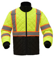 GSS Safety Men's Class 3 Two Tone Quilted Jacket