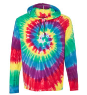Adult Dyenomite Tie Dyed Hooded Pullover T-Shirt