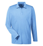 UltraClub Men's Cool & Dry Heathered Performance Quarter-Zip