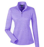 Ladies' NewburyMélange Fleece Quarter-Zip