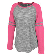 Pennant Women's Space-Dye Striped Crew
