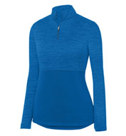 Augusta Ladies Shadow Tonal Heather 1/4 Zip