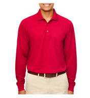Men's Pinnacle Performance Long-Sleeve Pocket Polo