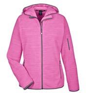 Ladies Perfect Fit™ M©lange Velvet Fleece Hooded Full-Zip  Jacket