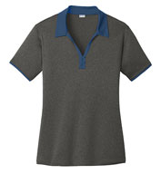 Sport-Tek®  Ladies' Heather Contender™ Contrast Polo