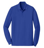 Port Authority® Men's EZCotton™ Long Sleeve Polo