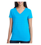 Threadfast Apparel Ladies Invisible Stripe V-Neck Tee
