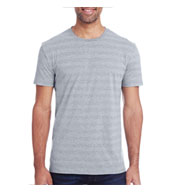 Threadfast Apparel Men's Invisible Stripe Short Sleeve Tee