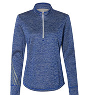 Adidas Women's Brushed Terry Heather 1/4 Zip Pullover