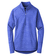 Ladies Stretch Reflective Heather 1/2-Zip